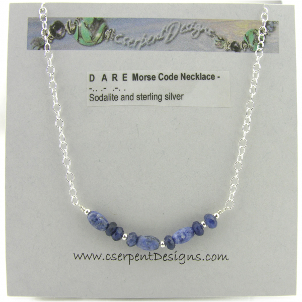 An example of how the necklace will be packaged