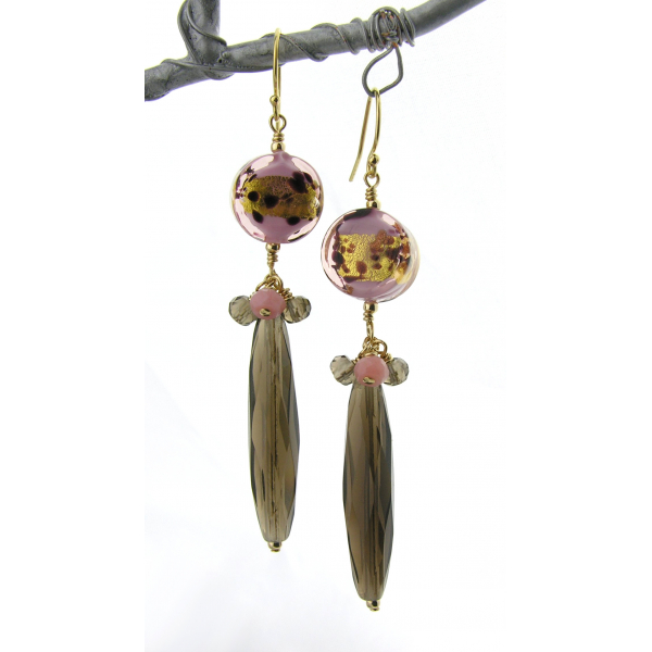 Golden Neopolitan Earrings