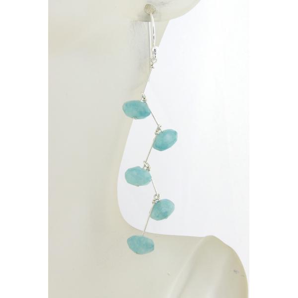 Angelite Stairs Earrings sparkle sterling silver kinetic