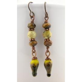 Handmade necklace orange gold fish carnelian agate sterling silver