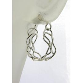 Artisan made blue enamel on copper earrings lampwork apatite gemstone niobium