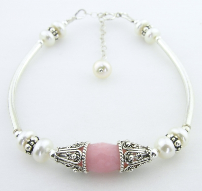 Pink Opal and Pearls