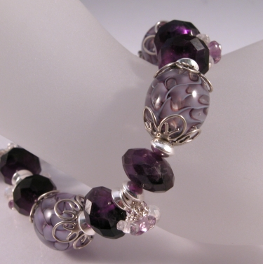 Amethyst and Canes Bracelet