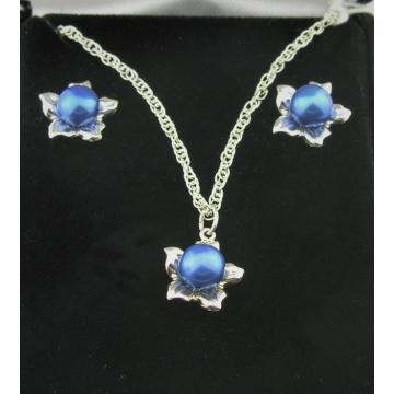 Blue Pearl Flowers Set