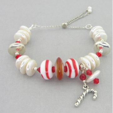 Candy Cane Pearls Slider