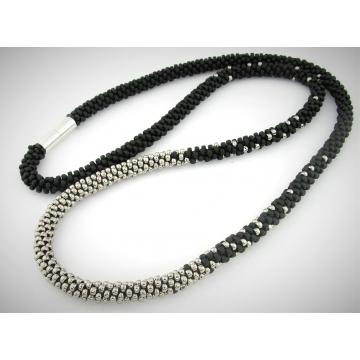 Slinky Black Kumi Necklace