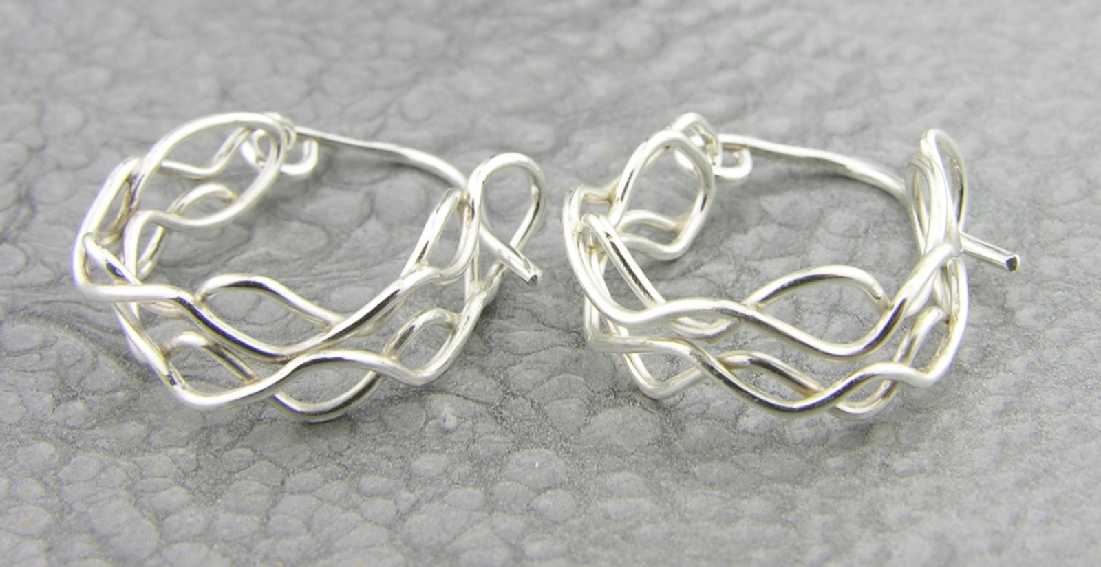 mish mesh hooplets hoop earrings twisted halos